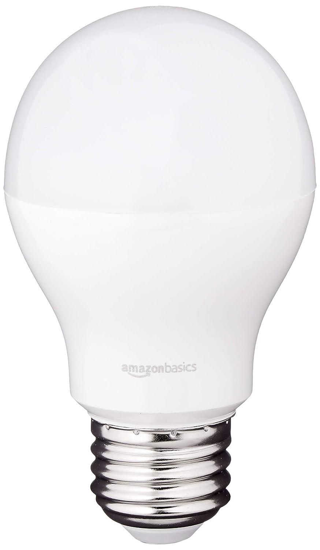 AmazonBasics 40 Watt Equivalent, Soft White, Dimmable, A19 LED Light Bulb, 6-Pack