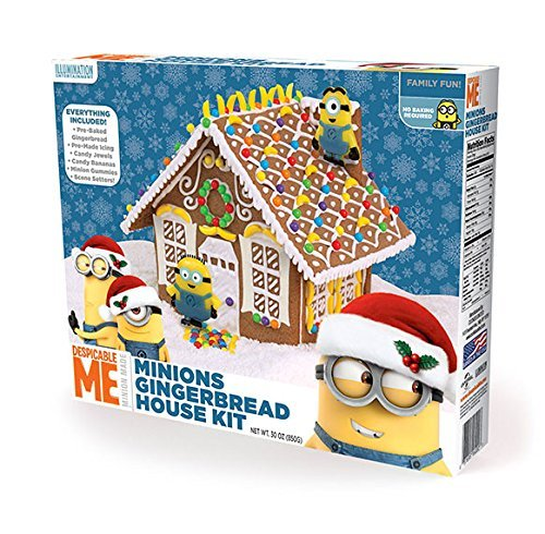 Amazon.com : Despicable Me Minions Gingerbread House Kit Pre Baked :  Grocery U0026 Gourmet Food