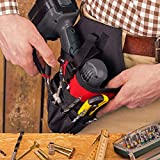 NoCry Fast Draw Drill Holster - Balanced Fit for Cordless T-Drills, 17 Accessory Pockets and Open Loops for Tool and Bit Storage, Belt-Attachment