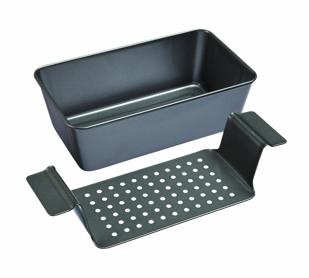 Chicago Metallic Professional Non-Stick 2-Piece Healthy Meatloaf Set, 12.25-Inch-by-5.75-Inch, Grey - X50801 by Chicago Metallic
