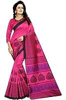 Vivan Trendz Women's Silk Printed Kalamkari Saree With Blouse Piece.