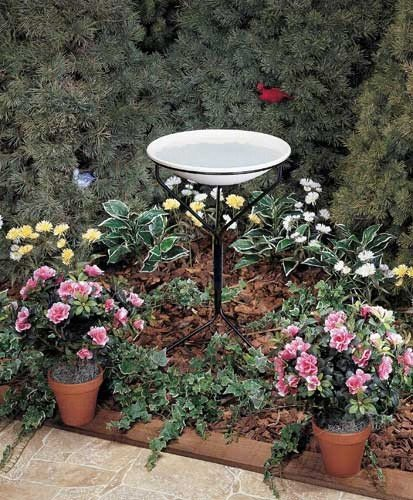 2 PACK 20 in. Bird Bath w/ Metal Stand (non-heated) by Allied Precision Industries