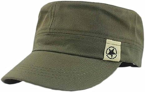 Tongshi Tejado plano militar Sombrero Cadete Patrulla Bush sombrero gorra de béisbol Campo (Ejercito verde): Amazon.es: Ropa y accesorios