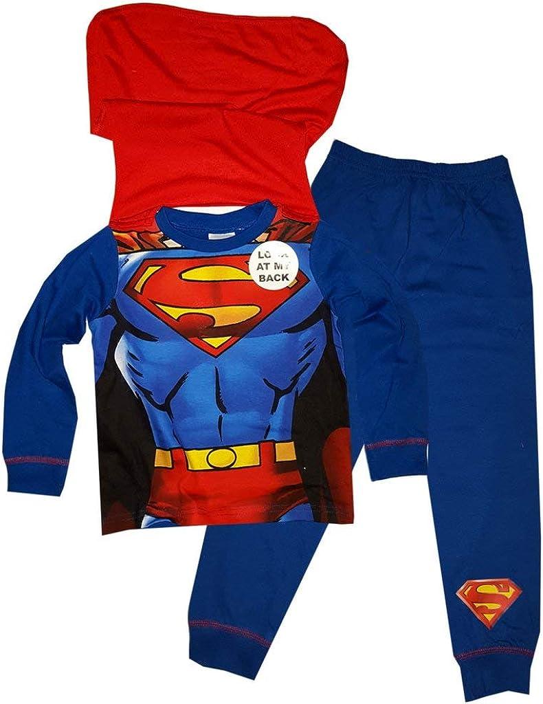 Amazon Com Superman Boys Novelty Pajama With Cape 7 8 Years Clothing