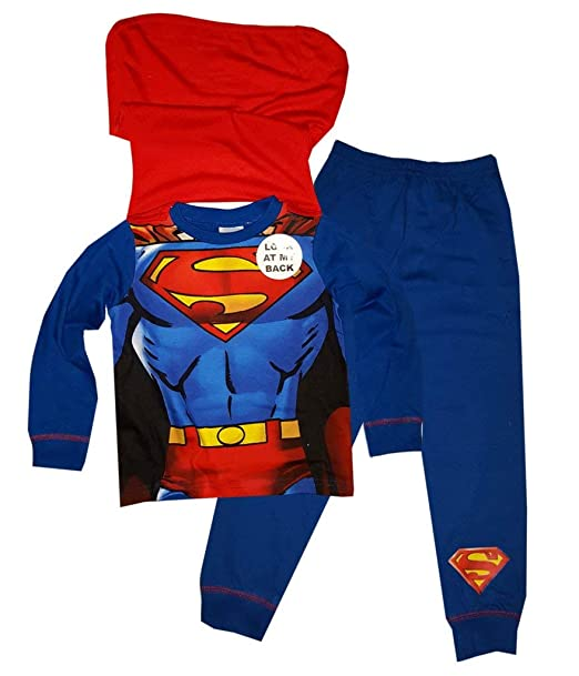 42f9a667ea Superman - Pijama dos piezas - para niño azul New Blue Superman