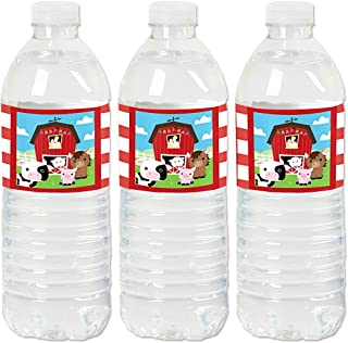 product image for Farm Animals - Barnyard Baby Shower or Birthday Party Water Bottle Sticker Labels - Set of 20