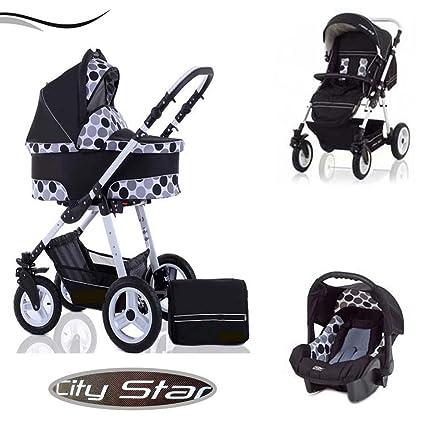 City Star - Cochecito de bebé 3 en 1 de calidad compuesto ...