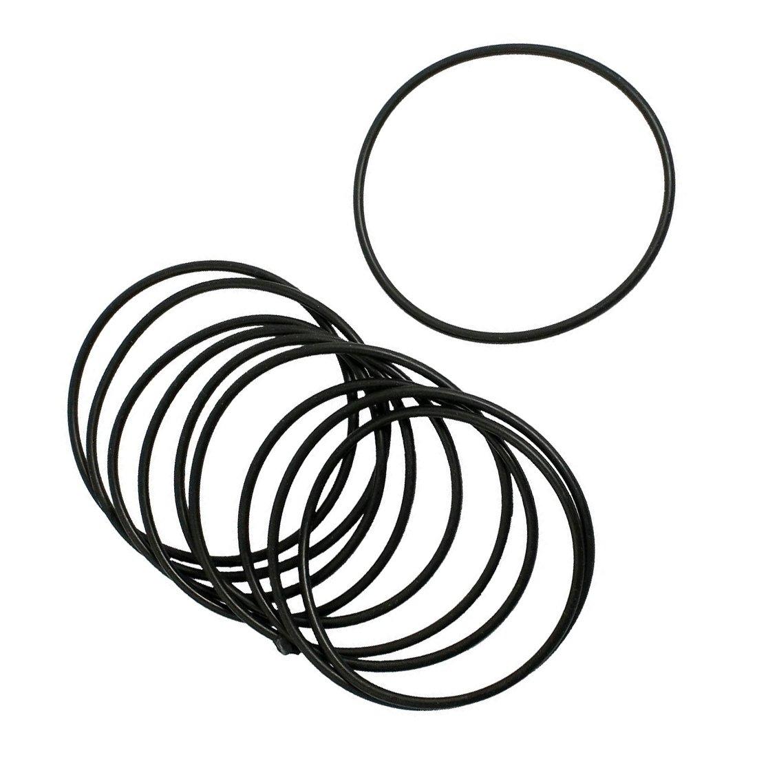 TOOGOO O-Ring Dichtung Unterlegscheiben 10 Stueck Schwarz Gummi Oil Seal O-Ringe Dichtungen Unterlegscheiben 20x15x2.5mm R
