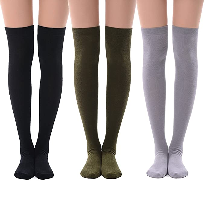 7b455c495 Amazon.com  Thigh High Tights Socks