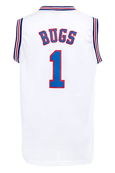 2bb930102fb Amazon.com: MM MASMIG Bugs 1 Jersey Basketball Jersey S-XXXL White: Clothing