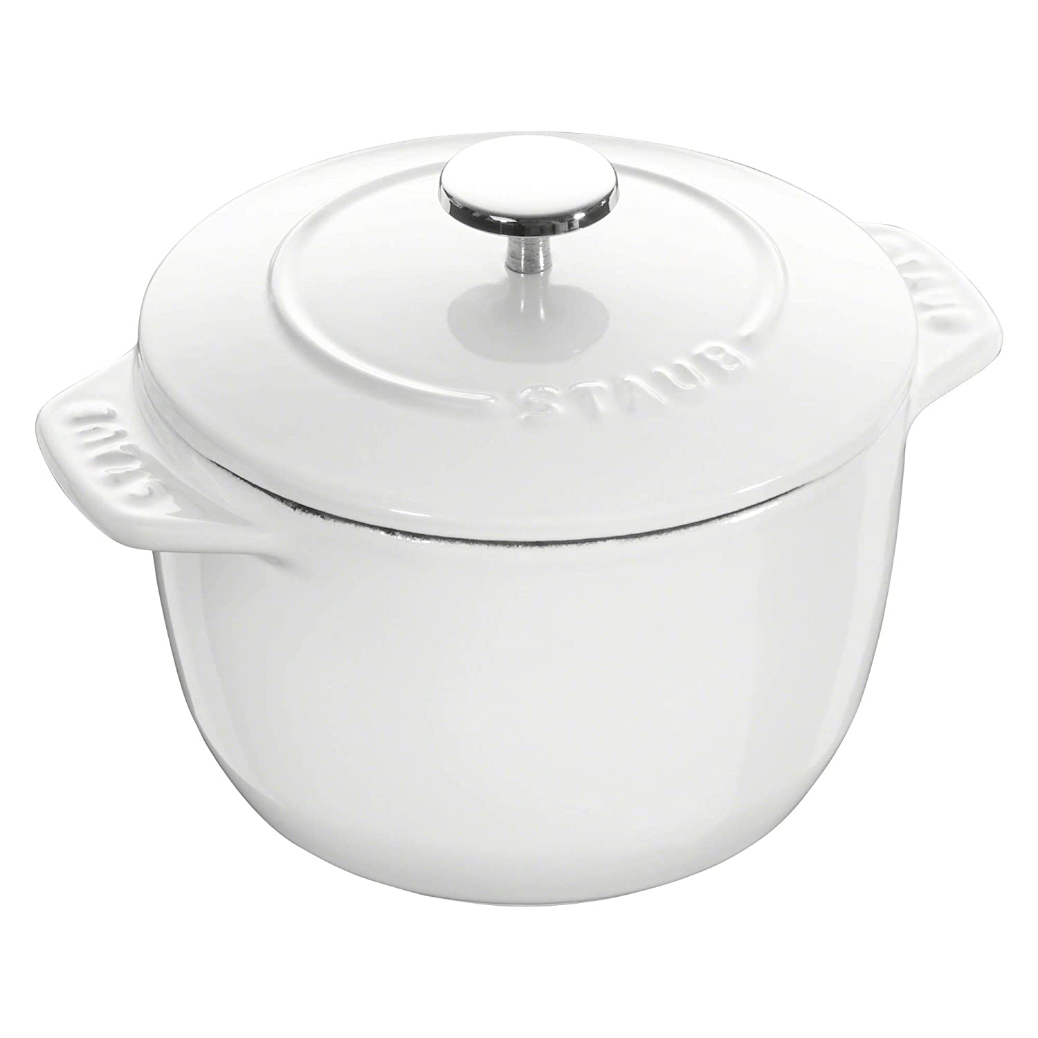 Staub Cast Iron 1.5-qt Petite French Oven - Matte White
