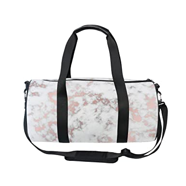 0248567b8221 Image Unavailable. Image not available for. Color  Cooper girl Rose Gold  Marble Duffels Bag Travel Sport Gym Bag