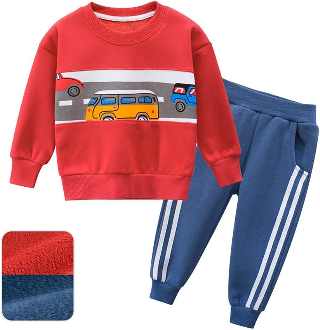 Felpa e Pantaloni in Cotone PAUBOLI Tuta in Pile per Bambini e Ragazzi Spessore 2-8T
