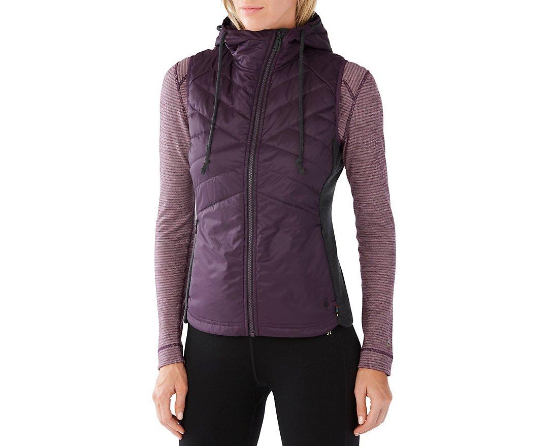 Smartwool Women's Double Propulsion 60 Hooded Vest (Bordeaux) Large