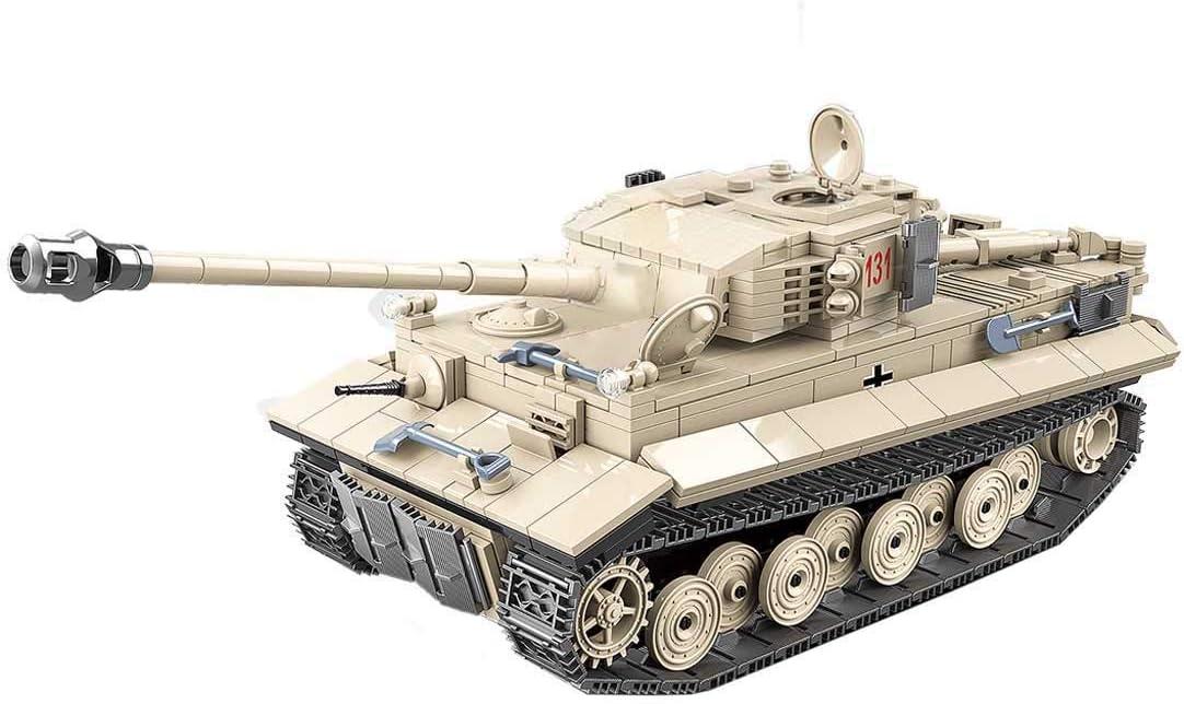 Tosbess Tanque Bloques de Construccion Militar Tanque Juguete Compatible con Lego SWAT Policía Figuras para Niños y Adulto(1018 Piezas)