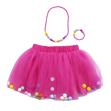Saingace Tutu Rock - Falda de Tul para niña (Falda de Ballet ...