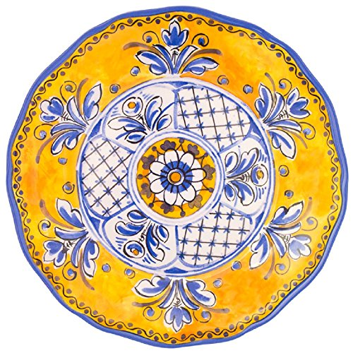 Le Cadeaux 11 in. Benidorm Yellow Dinner Plate