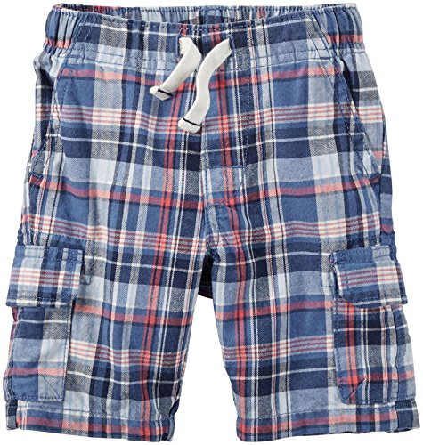 Canvas Plaid Shorts (Carter's Plaid Canvas Shorts, Red/White/Black, 3 Months)