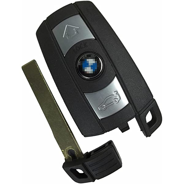 J-ACCES Replacement Key Fob Case Shell Fit for BMW 3 5 Series BMW X5 BMW X6 BMW Z4 Keyless Entry Remote Car Key Fob Cover Casing with Uncut Blade Blank