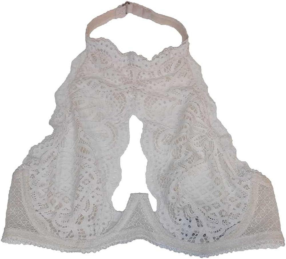 Victorias Secret Dream Angels Unlined Demi High Neck Bra Keyhole Ivory 34D