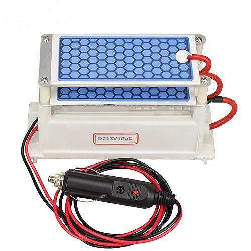 Portable Ozone Generator Car Ceramic Plate DC12v 3.5g/5g/7g Air Purifier Air Sterilizer Car Ozone (10g)