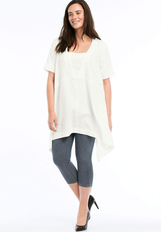 e2403afc0b0 Top1  Ellos Women s Plus Size Linen-Blend Hanky Hem Tunic. Wholesale Price  39.90