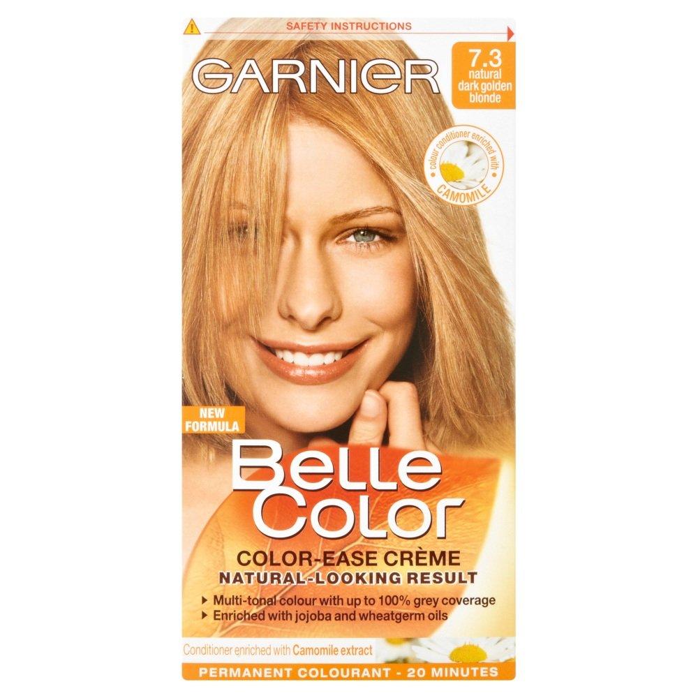 Garnier belle color 73 dark golden blonde dark brown hairs - Garnier Belle Color 73 Dark Golden Blonde Dark Brown Hairs 2