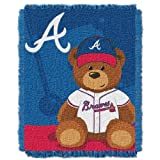 MLB Atlanta Braves Field Woven Jacquard Baby Throw Blanket, 36x46-Inch