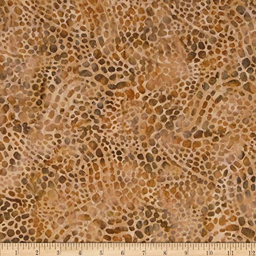 Indonesian Batik Fabrics - Textile Creations Indonesian Batik Dots Brown Fabric By The Yard