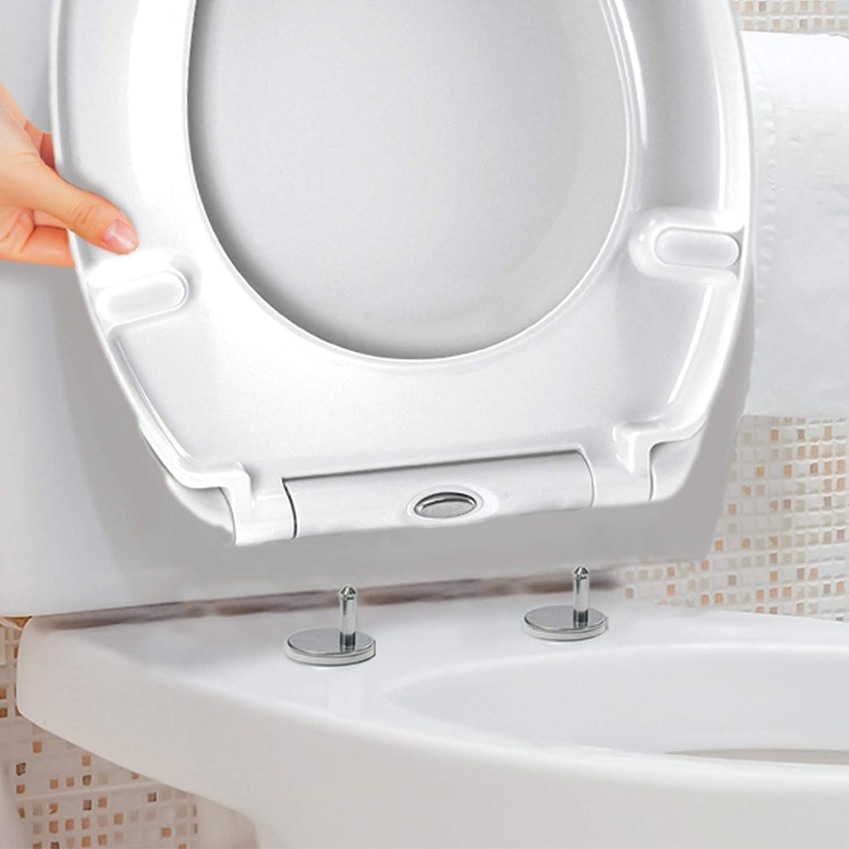 "Universal Bathroom Plastic Toilet Seat Polypropylene Oval Fittings Classic 18/"""