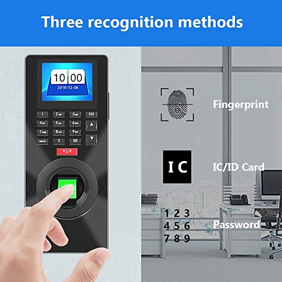 Amazon.com: Fingerprint/Card/Password Recognition 2.4inches ...