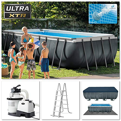 🥇 Intex 18Ft X 9Ft X 52In Ultra XTR Rectangular Pool Set