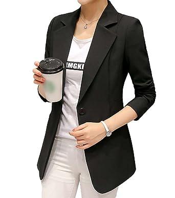 Veste Yilianda Blazer Manches Longues Femme Suit Col V Blouson SS0qBR