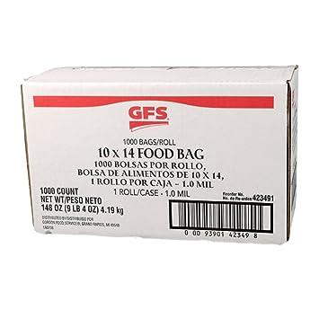 GFS 10 x 14 inch 1 Galón bolsas de almacenamiento de ...