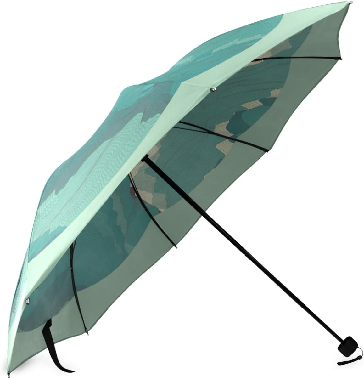 Personalized Topography Foldable Umbrella Travel Umbrella