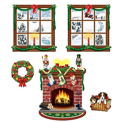 Christmas Decorations Office (Beistle 20213 Printed Indoor Christmas Décor Props, 15