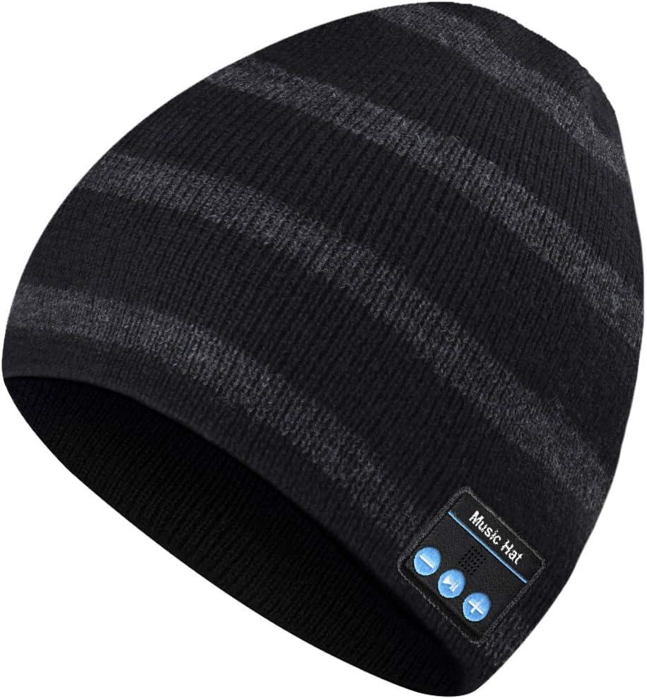 Bluetooth Beanie Hat, Regalos para Hombres y Mujeres, Bluetooth 5.0 Headphone Hat, Sombrero Lavable para Correr para Deportes Aire Libre, Mejores Regalos para Hombres y Mujeres para Navidad Cumpleaños
