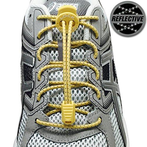 LOCK LACES Reflective Elastic Shoelaces product image