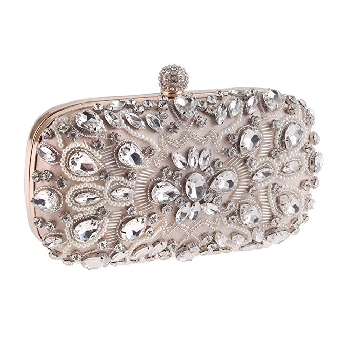 4a2807904cc0 Image Unavailable. Image not available for. Color  Women Clutches Diamond Crystal  Evening Bags Clutch Purse Party Wedding ...