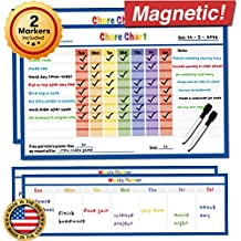 "Magnetic Reward Chart - 4 Pack - Dry Erase Magnetic Chore Chart - Kids Chore Chart Magnet - Children Teaching Resource - Kids Incentive Chart - Child Behavior Chart - 17"" x 11"" inches (Blue)"