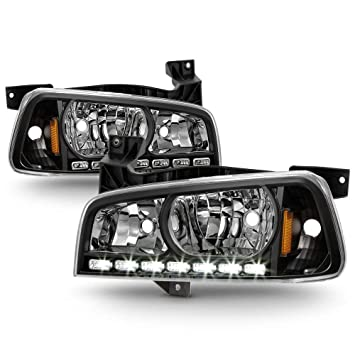 2006-2010 Dodge Charger Smoke Driving Headlights+Signal Corner Lamps Left+Right