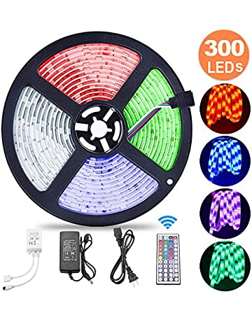 5M RGB Tira de LED 12V con Chip SMD 5050,ESEYE IP65 Impermeable Flexibles Multicolor