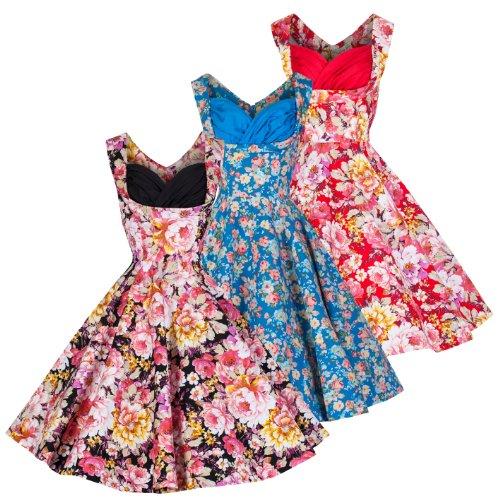 Lindy-Bop-Ophelia-Vintage-1950s-Floral-Spring-Garden-Party-Picnic-Dress
