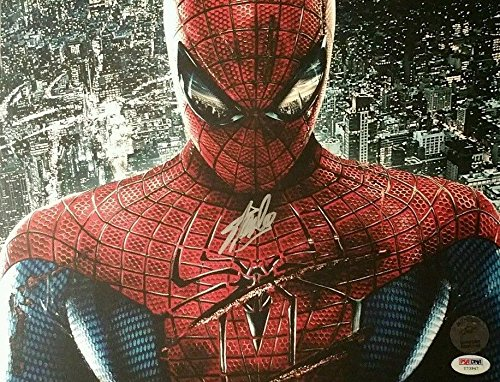 The Amazing Spiderman Stan Lee Mr. Marvel Signed 11X17 Photo - Psa/Dna