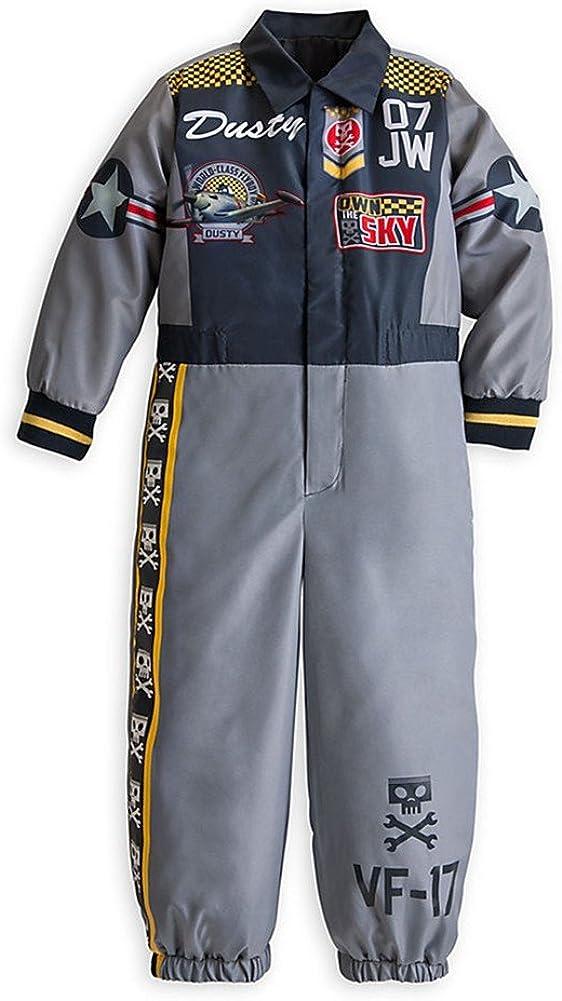 4 XS 5//6 4 Disney Store Planes Dusty Crophopper Halloween Costume Jumpsuit Size 2//3