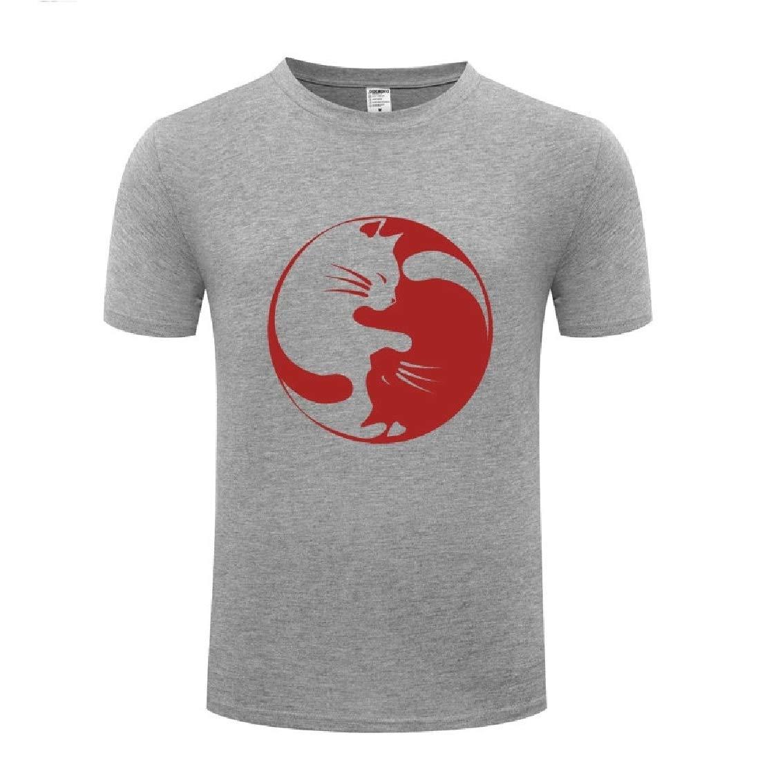 Rrive Men Short Sleeve Print Pullover Crew Neck T-Shirt Tee Top