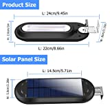 ROSHWEY Solar Gutter Lights Outdoor, Super Bright