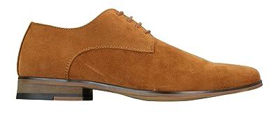 Chaussures Homme Simili Daim Nubuck avec Lacets Style Chic et Décontracté  Bleu Marine Marron Noir Camel 271b36fb0ebe