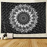 Black and White Tapestry Wall Hanging Tapestry Mandala Tapestries Ombre Mandala Tapestry Indian Bohemian Hippie Large Wall Tapestry Wall Art Bedspread Beach Tapestry