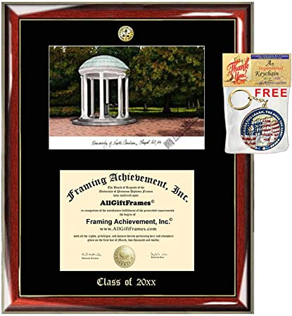 University of Northern Colorado diploma frames lithograph frame UNC campus image sketch framing graduation degree gift college plaque grad